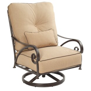 Lucerne High Back Swivel Rocking Chair with Cushion