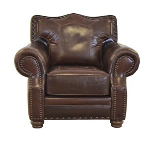 Westford Genuine Top Grain Leather Club Chair by Westland and Birch