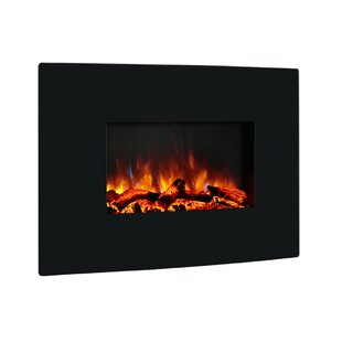 Coss Wall Mounted Curved Panel Electric Fireplace by Orren Ellis