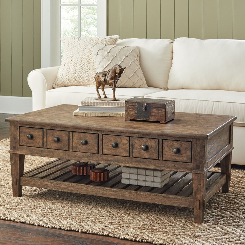 coffee table with drawers Lesley Coffee Table with Drawers & Reviews | Birch Lane coffee table with drawers