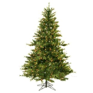 country pine 65 green pine artificial christmas tree with 500 pre lit clear lights with stand - Rustic Artificial Christmas Tree