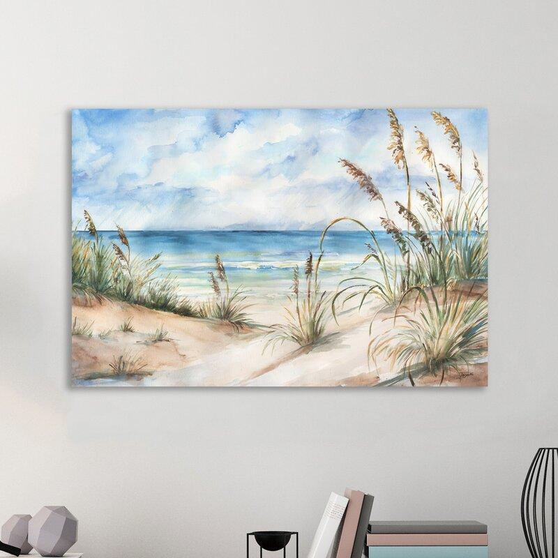Coastal Landscape By Tre Sorelle Studios Wrapped Canvas Print Amp Reviews Joss Amp Main