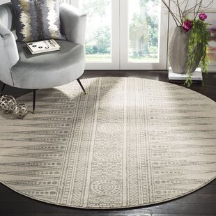 Elson Ivory/Silver Area Rug by Mistana