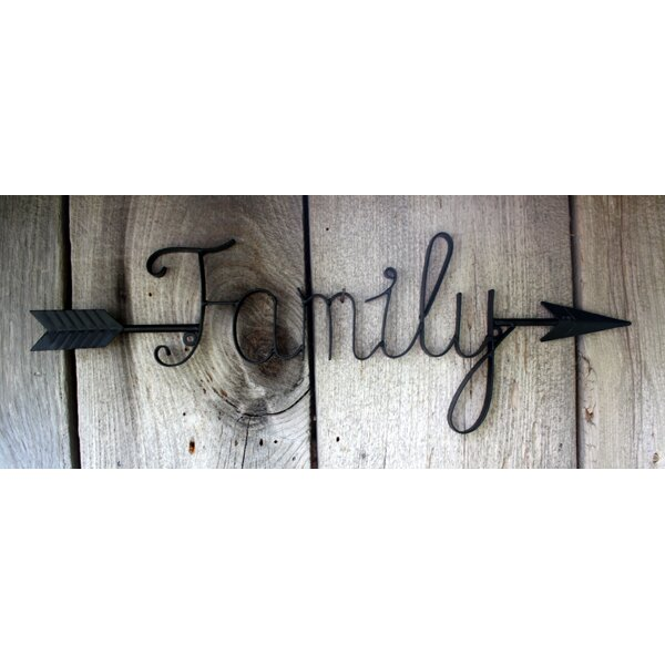 Family Word Home Decor Metal Wall Art ~ Windmill decor metal word arrow family wall wayfair
