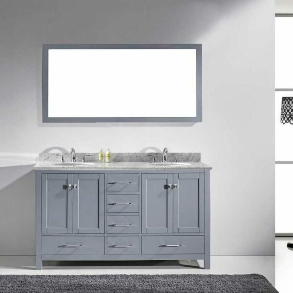 latitude run stoneham 60 quot bathroom vanity set with