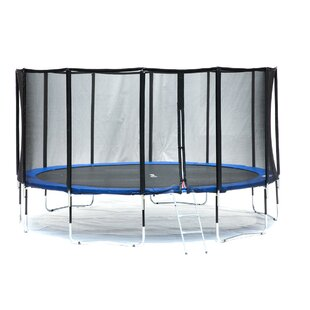Exacme Deluxe 15' Round Trampoline with Safety Enclosure