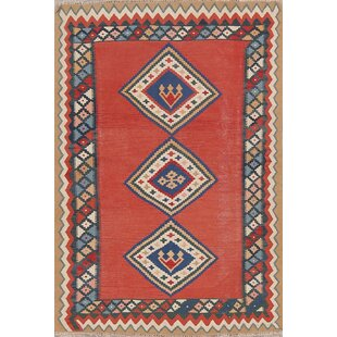 Affordable One-of-a-Kind Keensburg Turkish Hand-Knotted 11' 2'' X 3' 11'' Wool Red/Black Indoor/Outdoor Area Rug ByBloomsbury Market