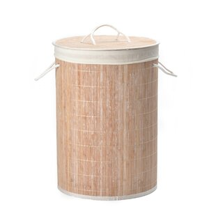 Bamboo Laundry Basket With Liner By Wayfair Basics