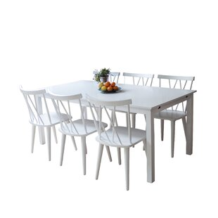 Farmington Extendable Dining Set With 6 Chairs By Brambly Cottage