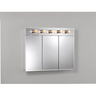 Compare & Buy Ashland 36 x 27.75 Surface Mount Medicine Cabinet with Lighting By Jensen