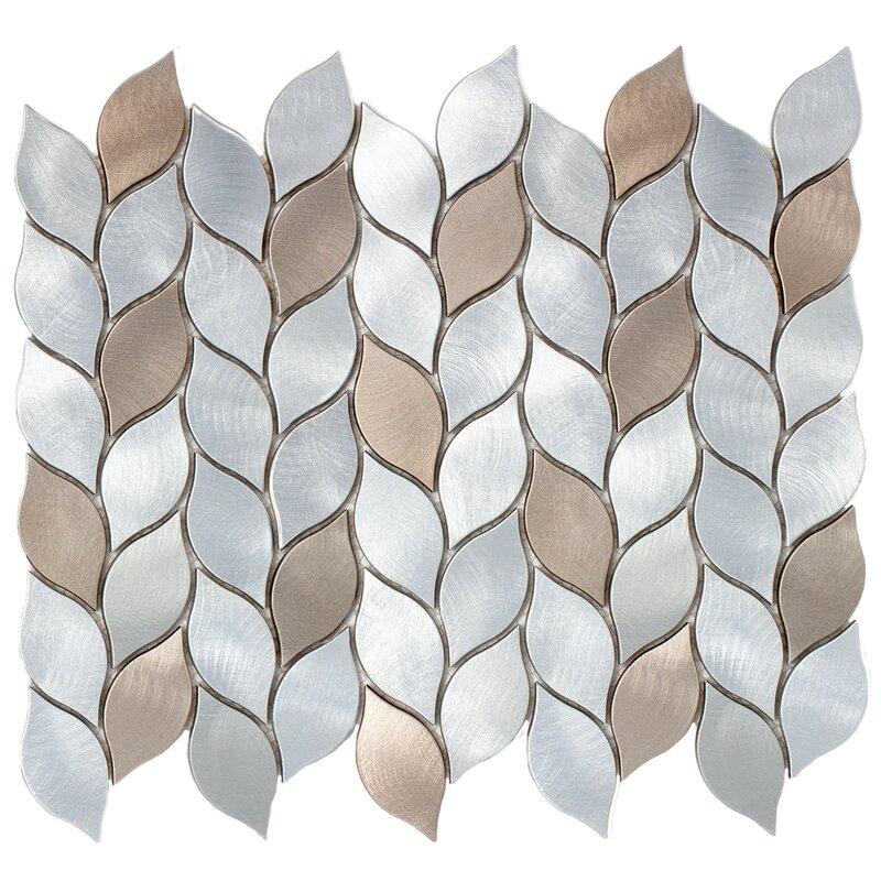 Supreme Tile Leaf Shape 1 X 3 Metal Mosaic Tile Reviews Wayfair