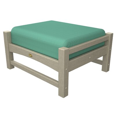 Trex Outdoor Rockport Club Ottoman Colour: Sand Castle / Spa