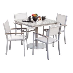 Latitude Run Farmington 5 Piece Dining Set with Sling Seat Chairs