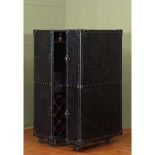 Meomi 33 Bottle Floor Wine Cabinet by Lazzaro Leather