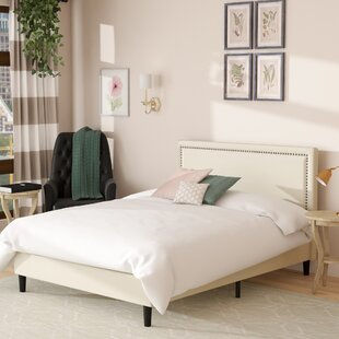 Alcott Hill Moraal Deluxe Nailhead Trim Upholstered Platform Bed
