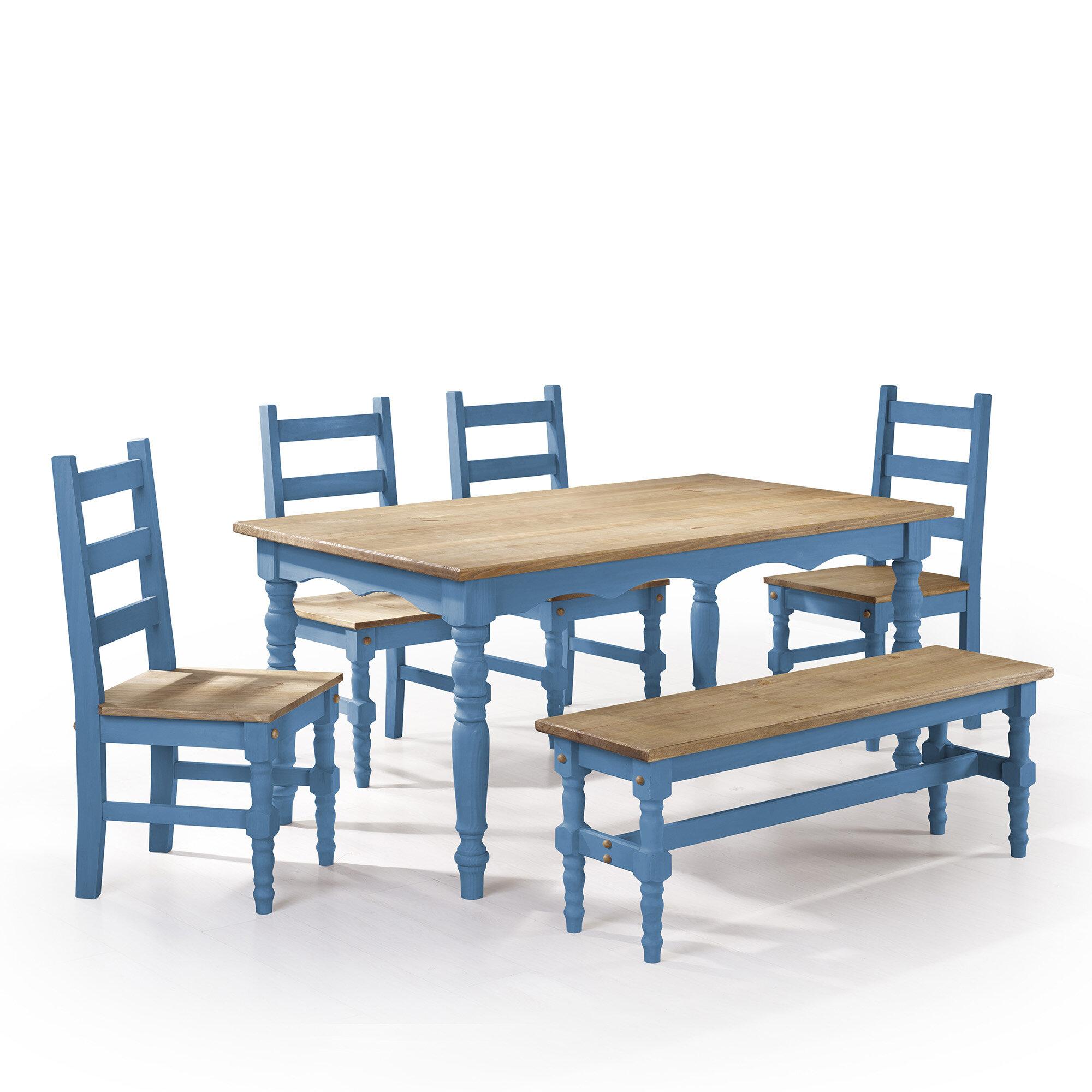 Gracie Oaks Pinard Solid Wood Dining Set & Reviews | Wayfair