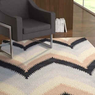 Searching for Grewal Hand-Tufted Wool Blue/Black Area Rug ByLatitude Run
