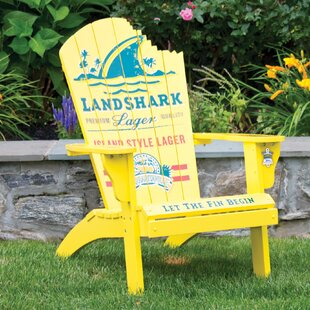 Margaritaville Landshark Solid Wood Adirondack Chair by Rio Brands