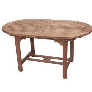 Catalina Extendable Teak Dining Table by Loon Peak #1
