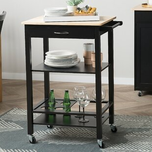 Tobin Kitchen Cart Canora Grey