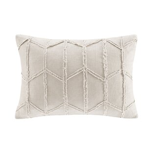 Frayed Geo Linen Lumbar Pillow