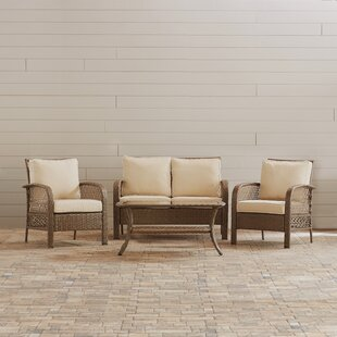 Tribeca 4 Piece Rattan with Cushion by Beachcrest Home