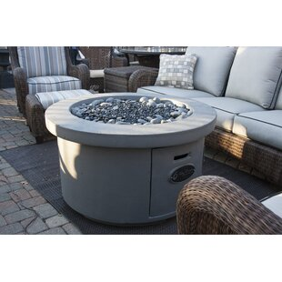 BayPointe Outdoors Urban Series Concrete Gas Fire Pit Table
