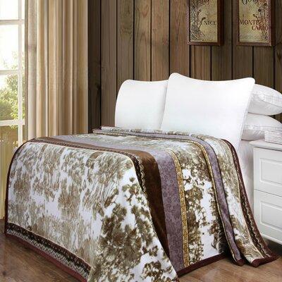 "Whispering Twilight Reversible Soft Warm Throw Blanket DaDa Bedding Size: 60"" L x 50"" W"