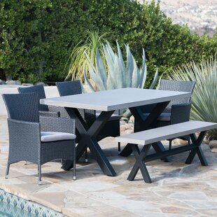 Red Barrel Studio Durazo Outdoor 6 Piece Dining Set with Cushions