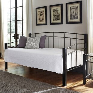 Red Barrel Studio Sullivan Contemporary Metal Daybed with Sloping Top Rails