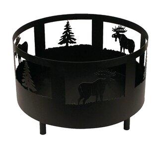Coast Lamp Mfg. Moose and Tree Scene Meta..