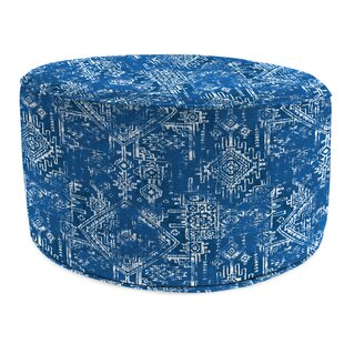 Wrought Studio Abadie Bead Fill Pouf Ottoman with Cushion