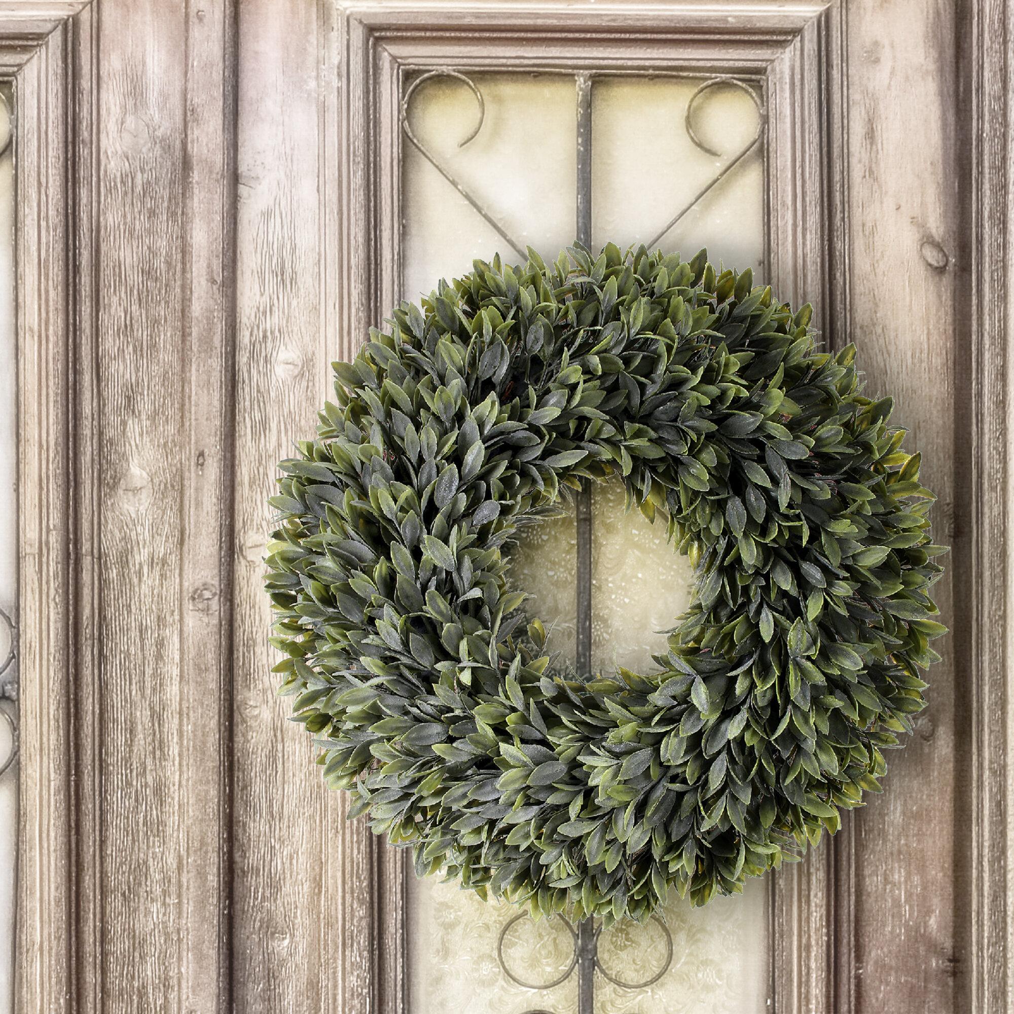 Gracie Oaks Flocked Sage 20 Foam Wreath Wayfair
