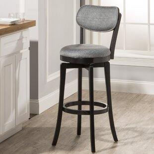 Jimenes 26 Swivel Bar Stool With Cushion by Red Barrel Studio