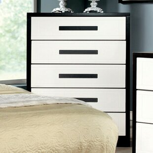 Top Reviews Mokal Wooden 5 Drawer Chest by Latitude Run