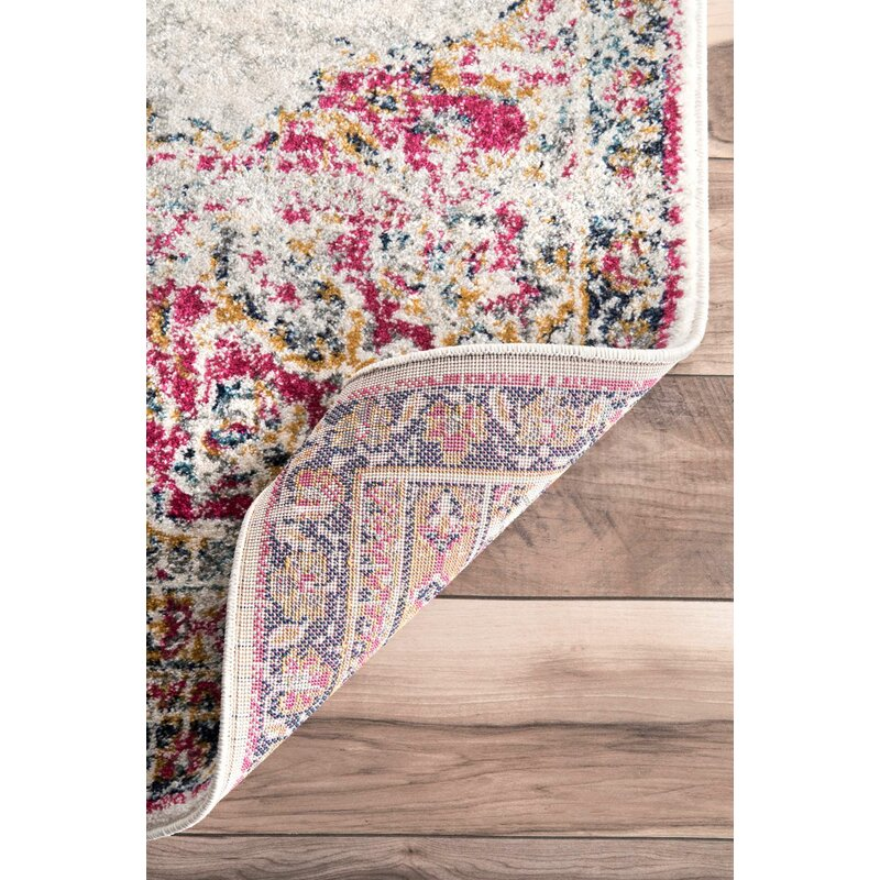 area rug pink hillsby mistana wayfair reviews floral pdx rugs