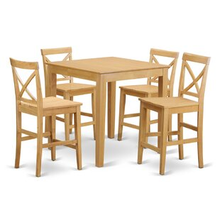 Duffey 5 Piece Counter Height Pub Table Set Highland Dunes