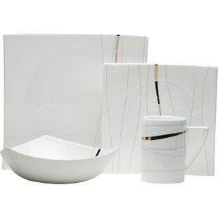 Odette Bone China 4 Piece Place Setting Service for 1  sc 1 st  AllModern & Dinnerware Sets - Modern u0026 Contemporary Designs | AllModern