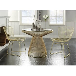 Kuester Metal Round Table 3 Piece Dining Set