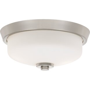 Where buy  Didmarton 2-Light Flush Mount By Breakwater Bay