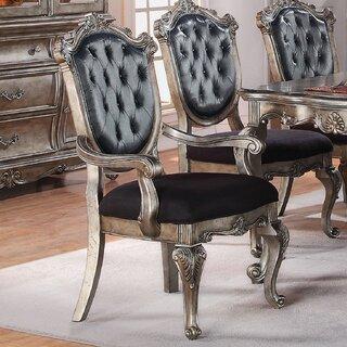 Wensley Upholstered Wooden Framed Dining Chair (Set of 2) by Astoria Grand SKU:DD780818 Information