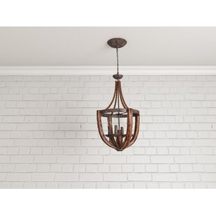 Laurel Foundry Modern Farmhouse Sylvie 4-Light Empire Chandelier