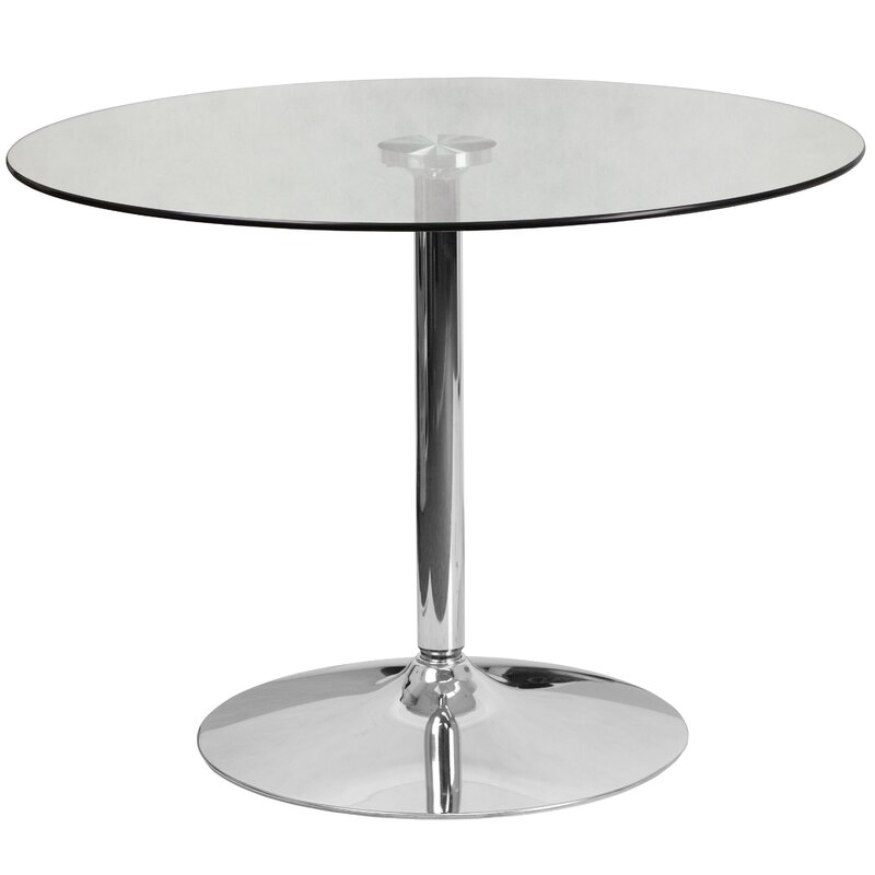 Cavell Round Gl Dining Table