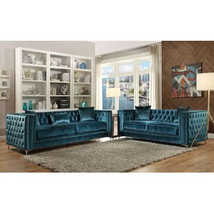 Everly Quinn Solon 2 Piece Living Room Set