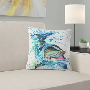 Exceptionnel Animal Large Dolphin Watercolor Pillow
