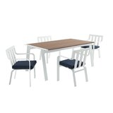 Mevlut 5 Piece Dining Set with Cushions