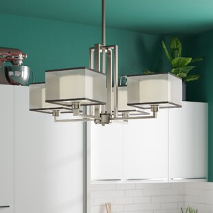 T.S. 4-Light Shaded Chandelier by Orren Ellis