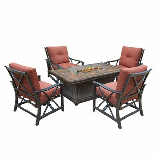 Alvarenga 5 Piece Conversation Set with Cushions