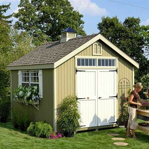 colonial williamsburg precut 10 ft w x 10 ft d wooden storage shed