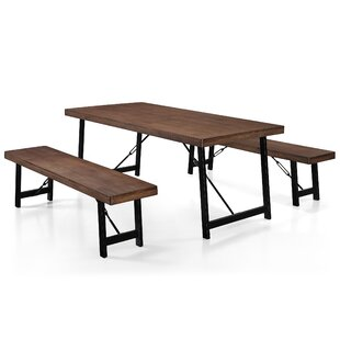Renken 3 Piece Dining Set  sc 1 st  AllModern & Bench Dining Room Sets - Modern \u0026 Contemporary Designs | AllModern